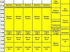 Grilla de programacion - FM Spacio