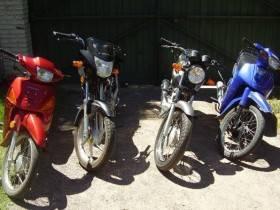 Secuestro de motos - Foto Relaciones Policiales URXI