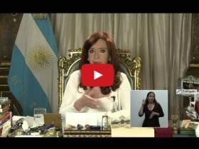 CFK por Cadena Nacional - Video Telam