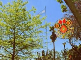 Plaza Sarmiento en Primavera - Foto Comuna de Franck