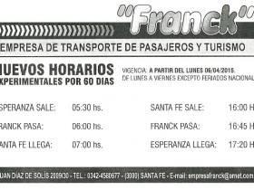 Horarios Empresa Franck