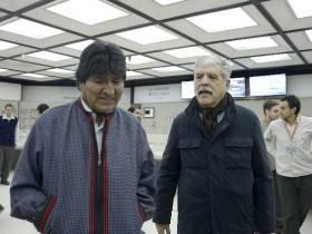Evo Morales y De Vido - Foto Presidencia