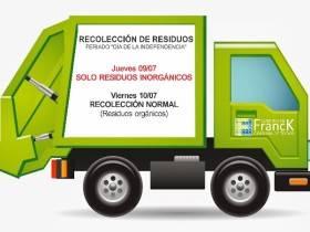 Recoleccion de residuos - 9 de Julio