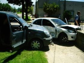 Accidente en Rivadavia y Mitre - Foto FM Spacio