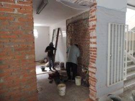 Obras en Escuela 321 - Foto FM Spacio