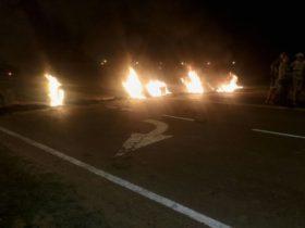 Protesta en Ruta Provincial 1 - Foto FM Latidos
