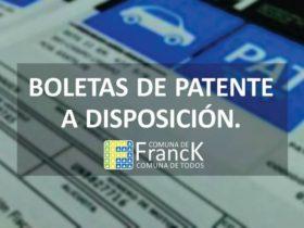 Boletas de Patente - Comuna de Franck