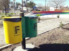 Nuevos cestos - Foto Comuna de Franck