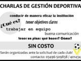 Charlas de Gestion Deportiva - Afiche
