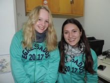 Florencia Braida y Lourdes Mettan - Foto FM Spacio
