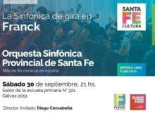 Sinfonica Provincial en Franck - Afiche Comunal