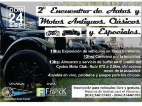 Encuentro de Autos y Motos - Afiche Comuna de Franck