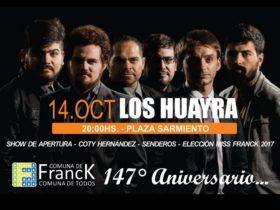 Los Huayra en Franck - Afiche