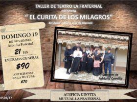 El Curita de los milagros - Afiche Teatro La Fraternal