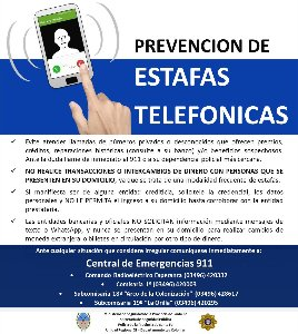 Preveción de estafas telefónicas