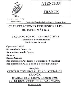 Capacitación CEIT en Franck