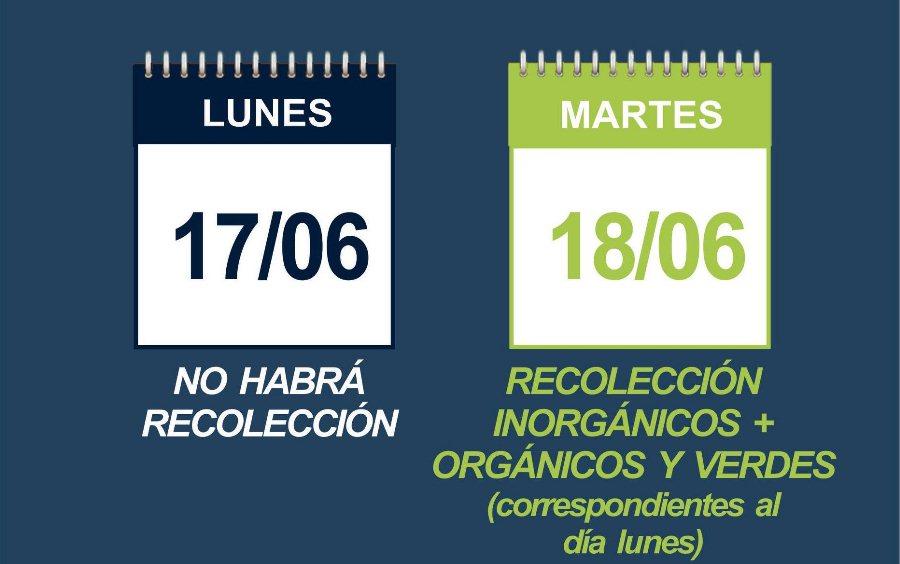 Recolección de residuos - Junio 2019